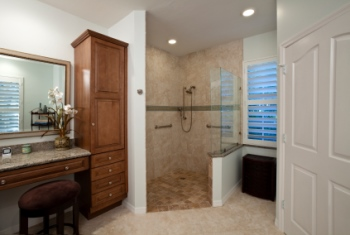 Remodeled bathroom in Montclair NJ by JV Granite & Marble LLC