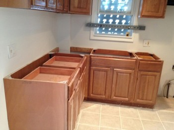 Before Install of Granite Countertops in Newark, NJ