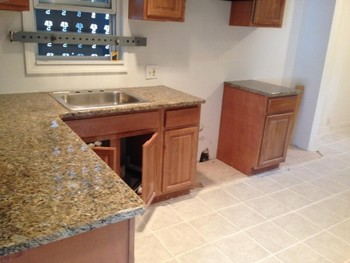 After Install of Granite Countertops in Newark, NJ
