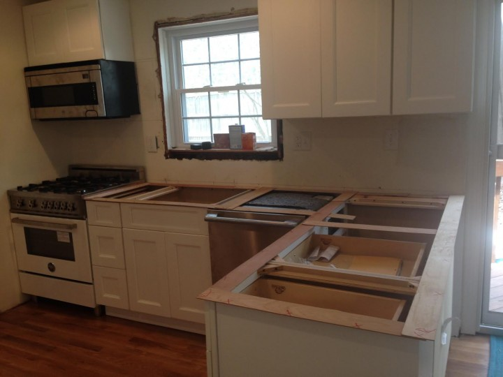Before Install of Stone Countertops in West Orange, NJ