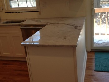 After Install of Stone Countertops in West Orange, NJ